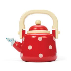 Bodkovaná čajová kanvica