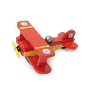 Červené retro lietadlo