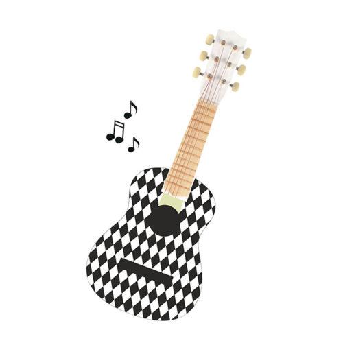 Drevená gitara Harlekýn