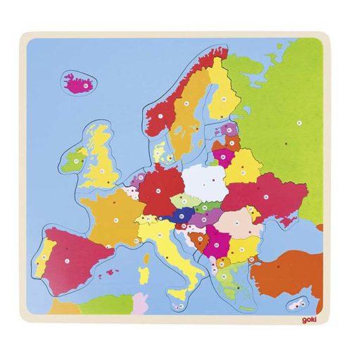 Drevená mapa Európy 1