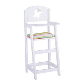 Drevená stolička pre bábiky