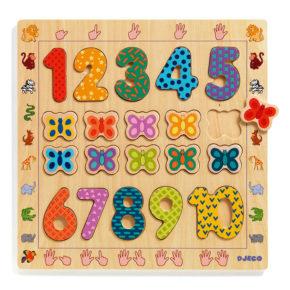 Drevená vkladačka čísla