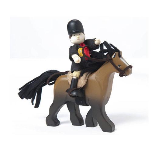 Drevený koník - hnedý