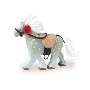 Drevený koník - šedý