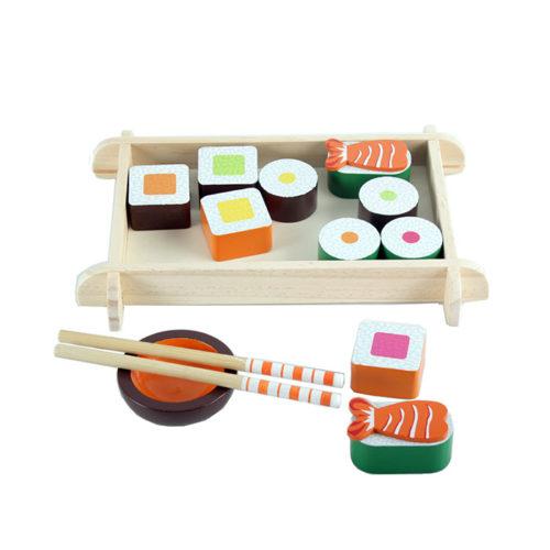 Drevený sushi set
