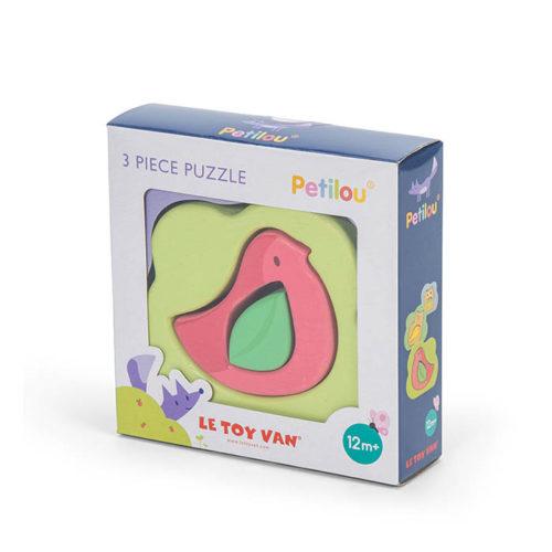 Farebný vtáčik puzzle