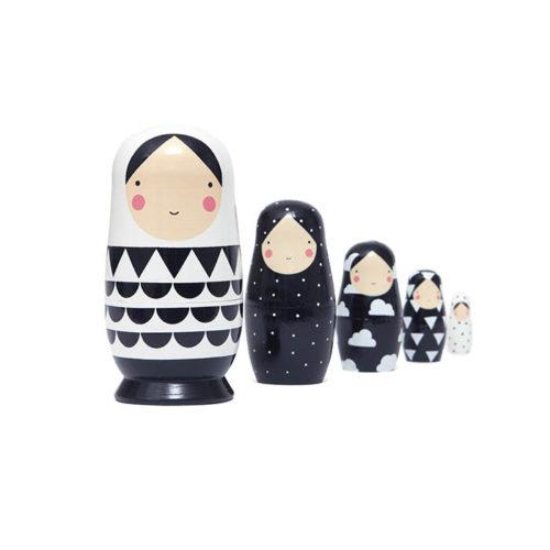 Matrioška Black & White 2
