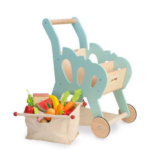 Modrý nákupný košík 2