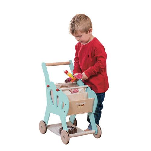 Modrý nákupný košík 3