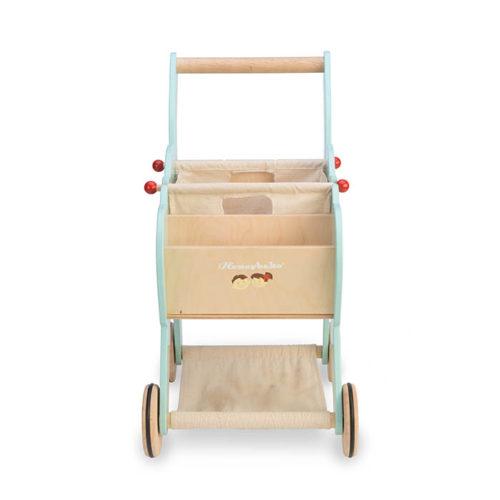 Modrý nákupný košík 7