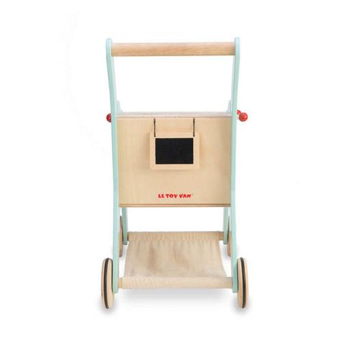 Modrý nákupný košík 8