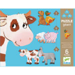 Obrovské puzzle Kravička a jej kamaráti