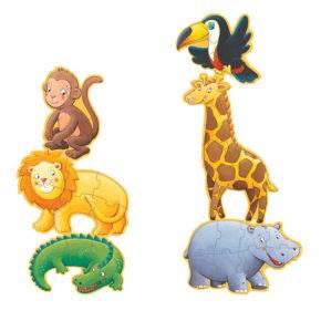 Obrovské puzzle Opica a jej kamaráti
