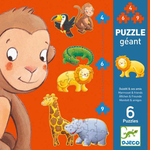 Obrovské puzzle Opica a jej kamaráti 2