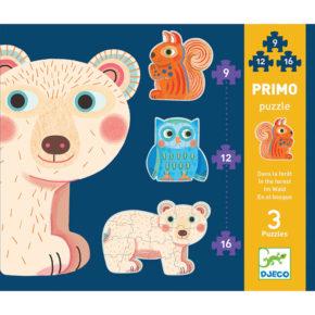 Primo puzzle pre najmenších Lesné zvieratká