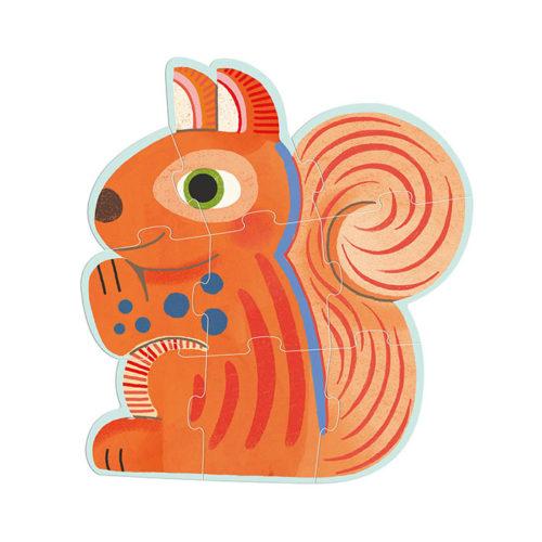 Primo puzzle pre najmenších Lesné zvieratká 2