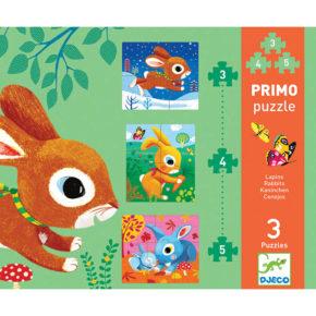 Primo puzzle pre najmenších Zajačik