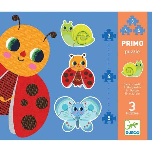 Primo puzzle pre najmenších Zvieratká v záhrade