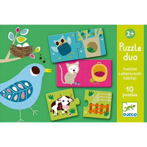 Puzzle duo Kde žijú zvieratká 1