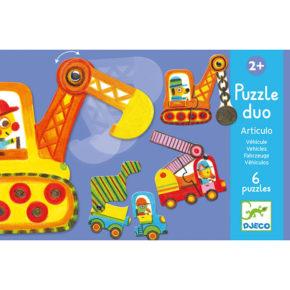 Puzzle duo Pohyblivé vozidlá