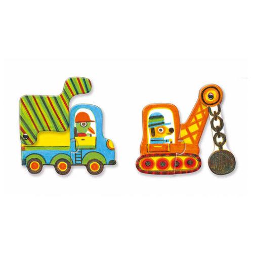 Puzzle duo Pohyblivé vozidlá 2