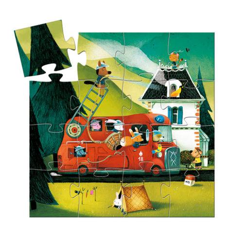 Puzzle Požiarnicke auto