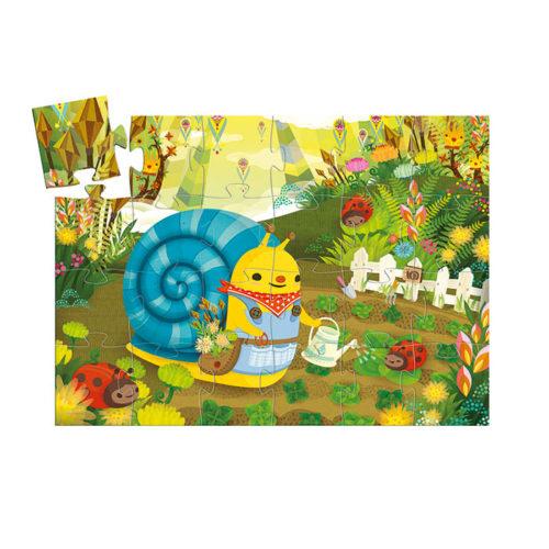 Puzzle Slimáčik záhradník 2