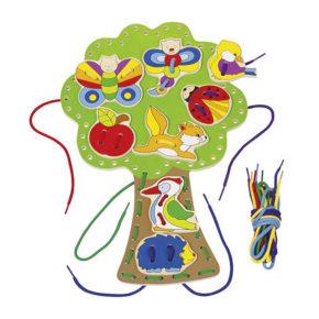Strom so zvieratkami na prevliekanie