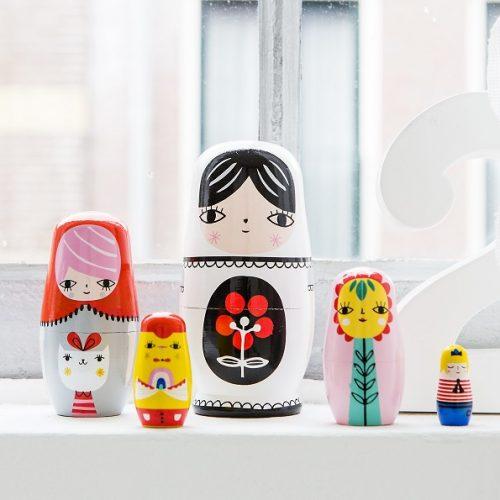 Nesting dolls Fleur & Friends ND4
