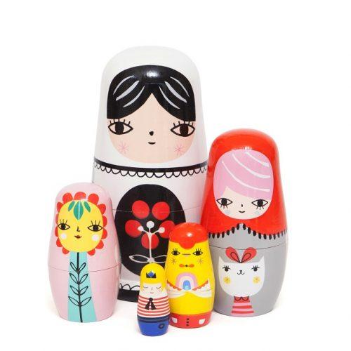 Nesting dolls fleur & friends ND4 b