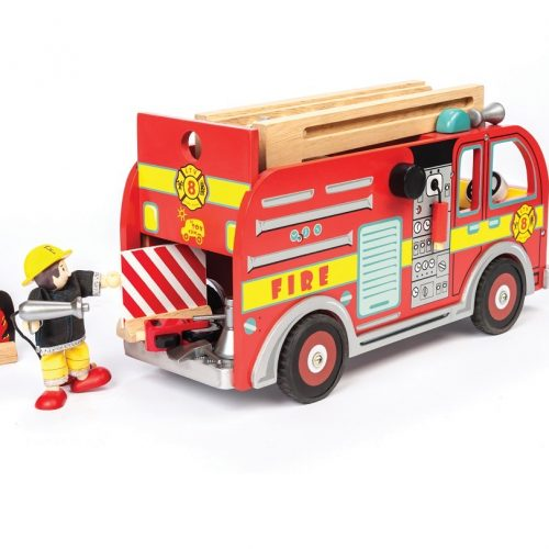 TV427 Fire Engine + accessories & 1 Budkins Included (1)