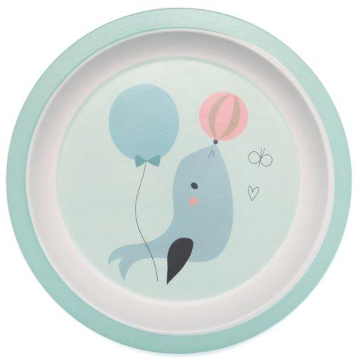 Bambusový tanierik tuleň blue