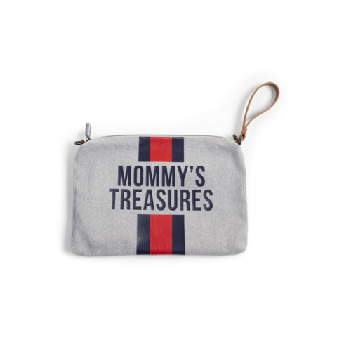 Púzdro Mommy Treasures Grey stripes
