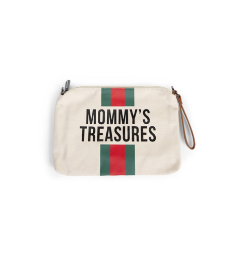 Púzdro Mommy Treasures White stripes red green