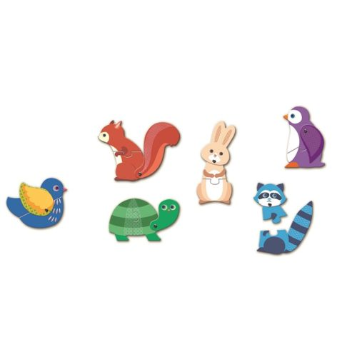 Puzzle duo pohyblivé zvieratká