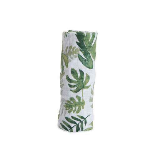 Mušelinová zavinovacia plienka Tropical leaf
