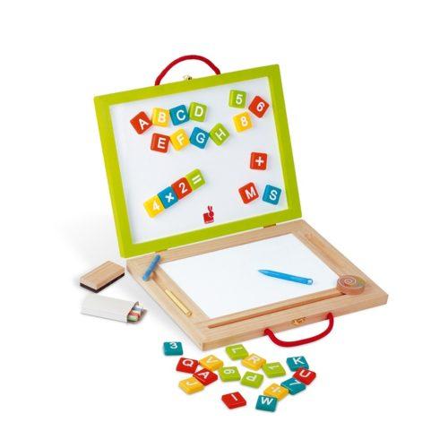 Drevený kufrík s magnetickou tabuľou