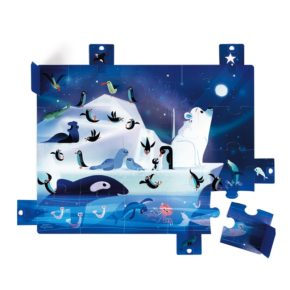 Puzzle s prekvapením Antarktída