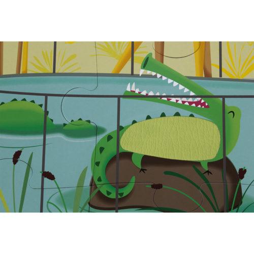 Dotykové puzzle Deň v Zoo
