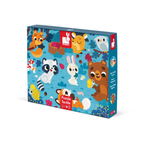 Dotykové puzzle Lesné zvieratká
