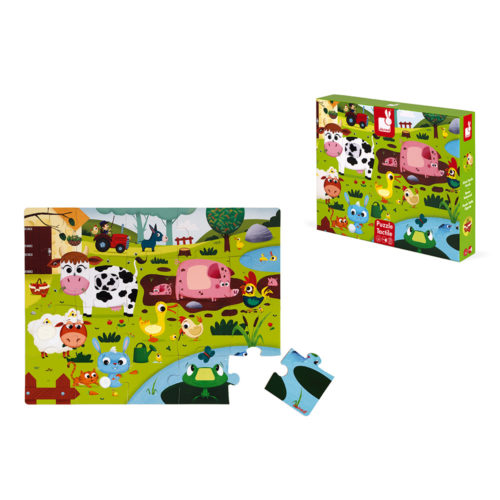 Dotykové puzzle Zvieratká na farme
