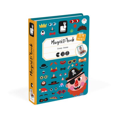 Magnetická kniha Zábavné tváre chlapci