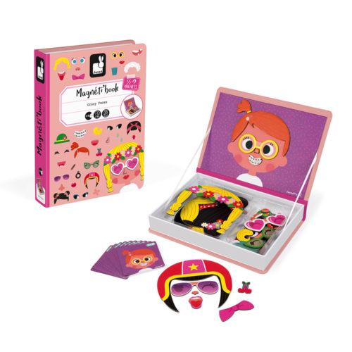 Magnetická kniha Zábavné tváre dievčatá
