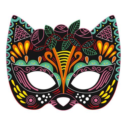 Vyškrabovacie obrázky Párty masky