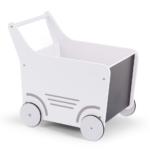 Drevený vozík s tabuľou biela