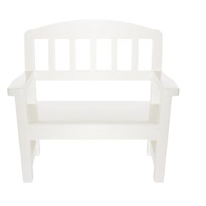 Drevená lavica biela