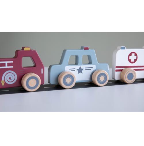Drevené autíčka Záchranné zložky