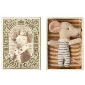 Myška bábätko v krabičke (chlapec)