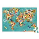 Map Monde Animaux en voie de disparition_cartes