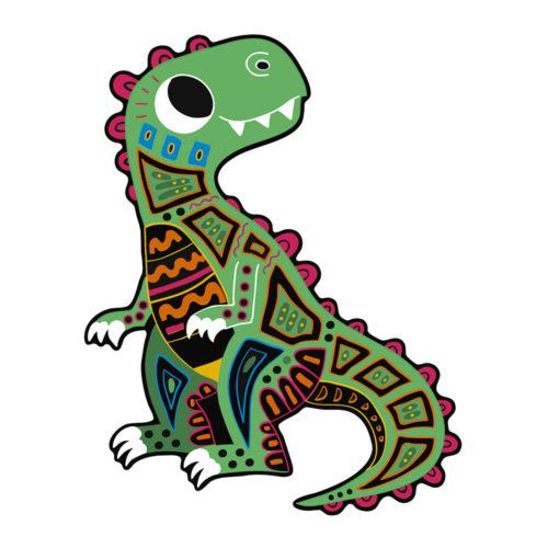 Vyškrabovacie obrázky Dinosaury